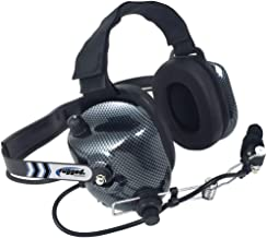Rugged Radios H41-CF Carbon Fiber Behind The Head Two Way Radio Headset with Volume..