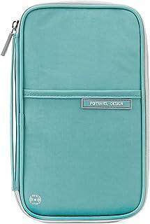 Passport Wallet, RFID Family Travel Passport Holder with Hand Strap, RFID Blocking Credit Card Wallet for Men & Women, Tri...