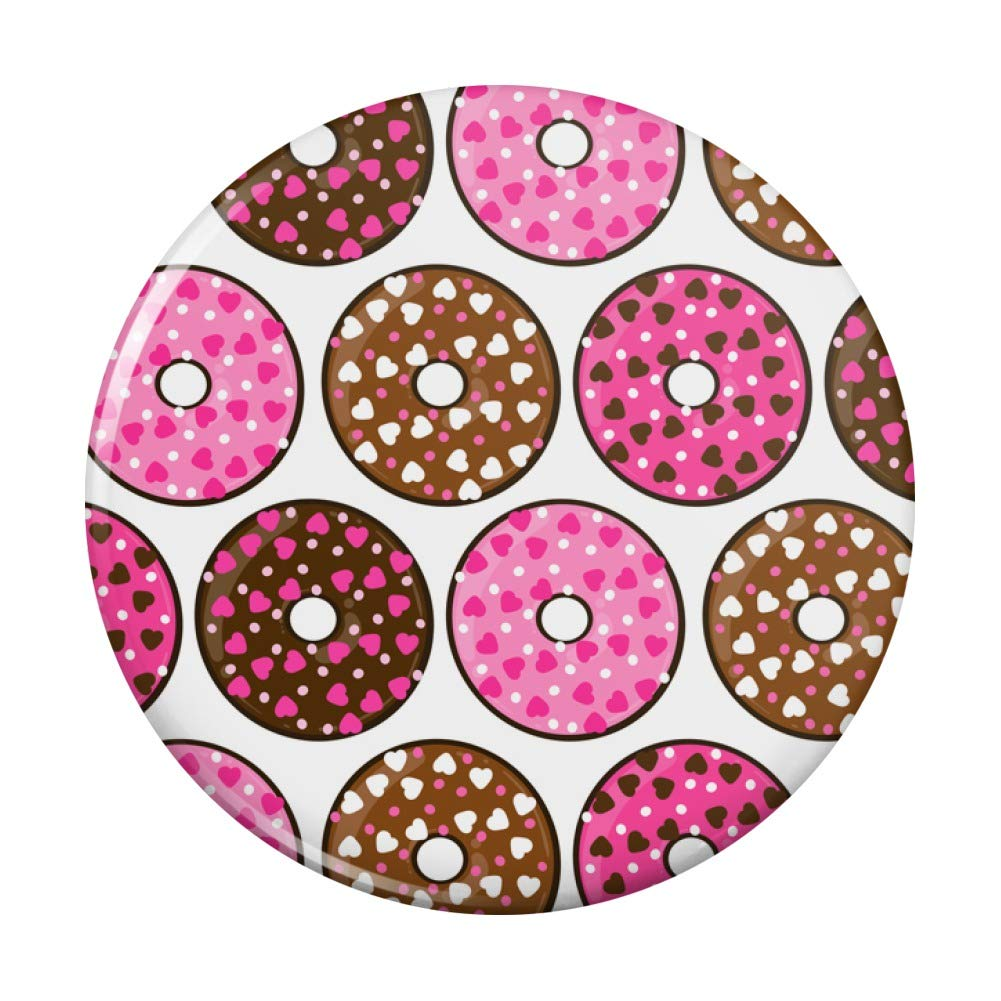 Max 66% OFF Chocolate Donuts with Heart Sprinkles Pattern 55% OFF Compact Pur Pocket