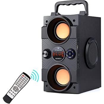 Amazon Com Ilive Bluetooth Speaker System With Built In Subwoofer 7 28 X 8 86 X 7 28 Inches Black Ihb23b Home Audio Theater
