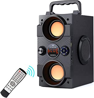 Portable Bluetooth Speakers with Double Subwoofer Heavy Bass, 30W Stereo Boombox, Bluetooth 5.0 Wireless 100ft Outdoor Spe... photo