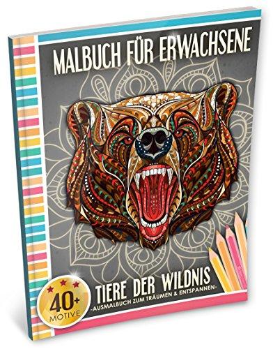 Malbuch für Erwachsene: Tiere der Wildnis (Kleestern, A4 Format, 40+ Motive) (A4 Malbuch für Erwachsene, Band 5)