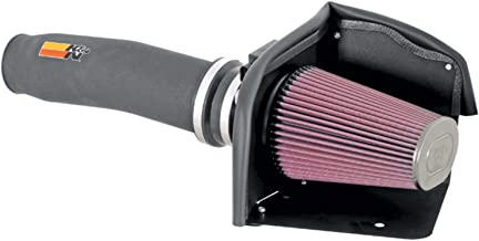 K&N Cold Air Intake Kit with Washable Air Filter:  1994-1996 Chevy (Caprice, Impala SS) 5.7L V8, Black HDPE Tube with Red Oiled Filter, 57-3011