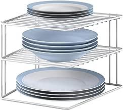 Metaltex Silos Rinconera de 3 estantes, Color Blanco