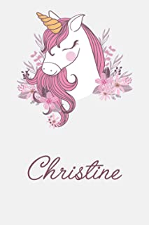Christine And Unicorn: Great Gifts Notebook for Women, Girls, Wives, Mom, Aunt kids Friends | Fun Spy Games for Holiday | ...