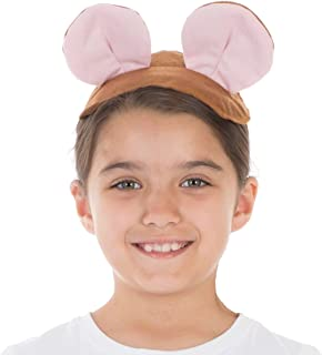 Brown Mouse Ears & Tail Set for Kids one Size fits All 3+ Years
