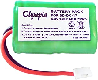 Replacement DC-17 MH120AAAL4GC Battery for SportDog 400 SD-400 SD-800 FR200 Receivers (150mAh, 4.8V, NI-MH)