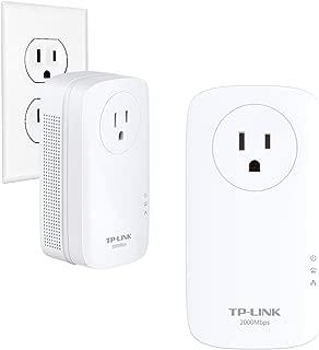 TP-Link AV2000 Mbps Powerline Ethernet Adapter - Gigabit Port, Ethernet Over Power, Plug&Play, Power Saving, MU-MIMO, Noise Filtering(TL-PA9020P KIT) (Renewed)