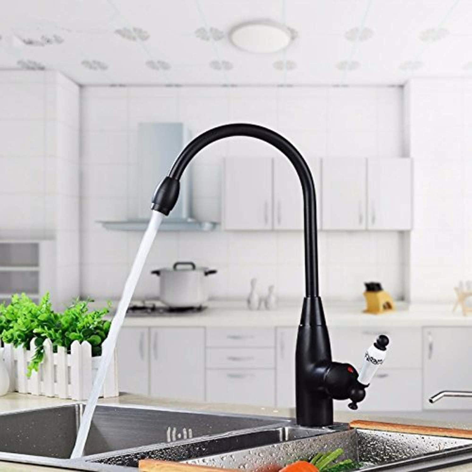 Water Tap Black Hot and Cold Water Can Be redated Modern Taps Kitchen Brass Faucet Bathroom Sink Basin Waterfall Tap Mixer Water Washroom Bath Tub Shower