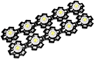 uxcell 280-350mA 1W LED Chip Bulb COB Light Beads Pure White Super Bright High Power for Floodlight 10pcs