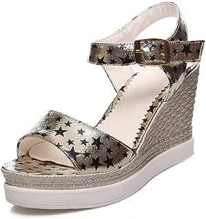 BalaMasa Womens ASL06826 Pu Platform Heels