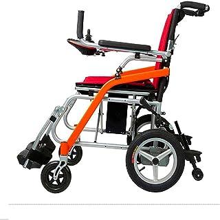 Sillas de ruedas eléctricas para adultos Doble Deluxe plegable de alimentación compacto Movilidad for sillas de ruedas Aid, ligero plegable Llevar Silla de ruedas eléctrica, 13kg Para los ancianos y d