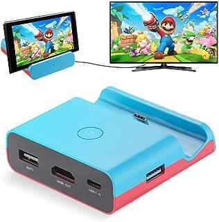 Powerextra Adattatore per Nintendo Switch - Sostituzione Dock Dock per TV Docking Station per Nintendo Switch con Adattato...
