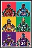 JUNIQE® Pop Art Basketball Poster im Kunststoffrahmen