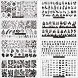 FingerAngel 13pcs Nail Stamp Plates set 8 plate...