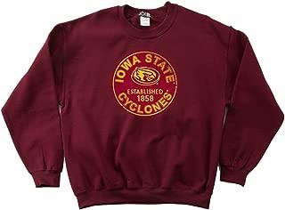 NCAA Iowa State Cyclones 50/50 Blended 8-Ounce Vintage Circle Crewneck Sweatshirt