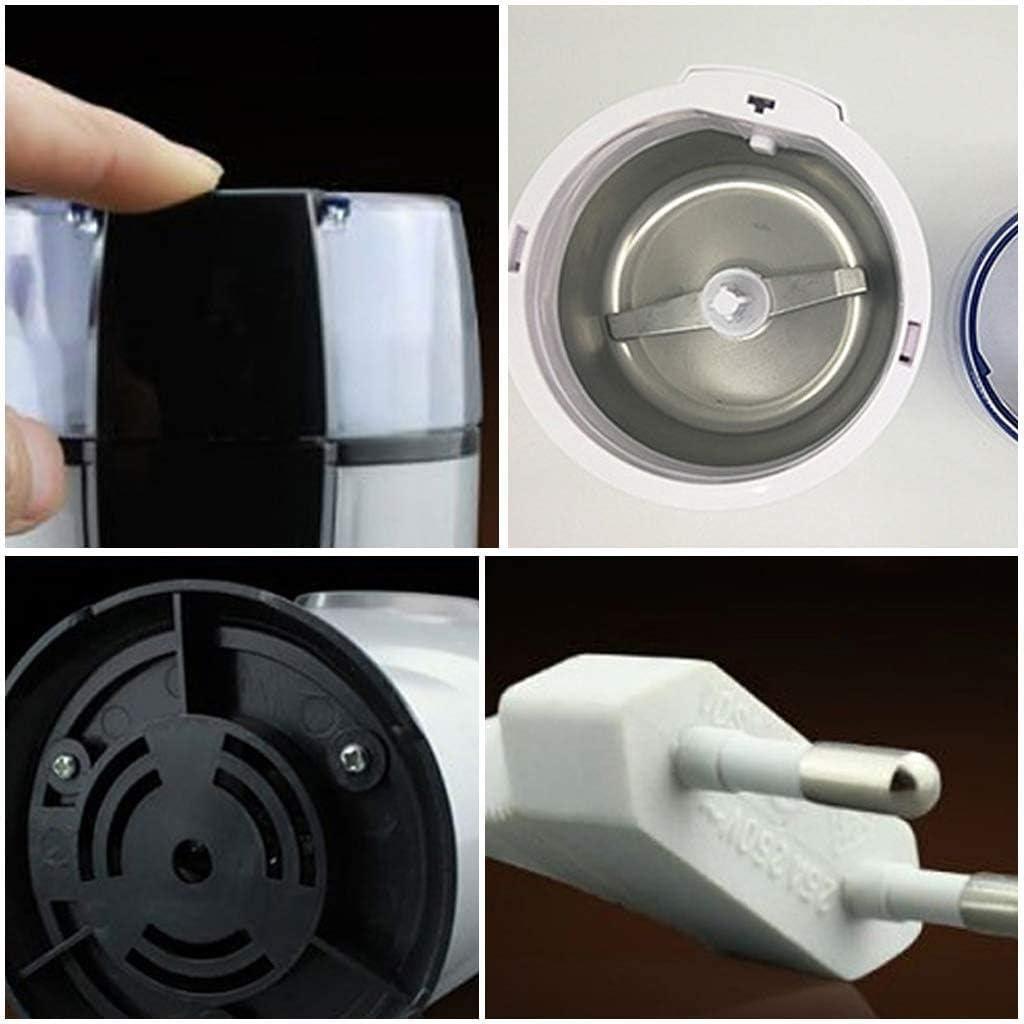 Lknjll Roestvrijstalen elektrische koffieboonmolen (Color : White) White