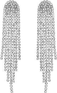 Stylebar Boho Tassel Earrings Long Bohemian Fringe Chain Crystal Chandelier Dangle Drop Earrings for Women Girls