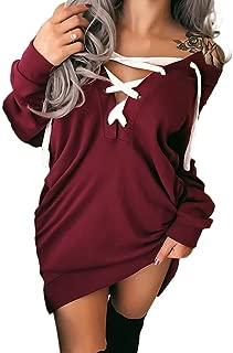 lace up jumper dress