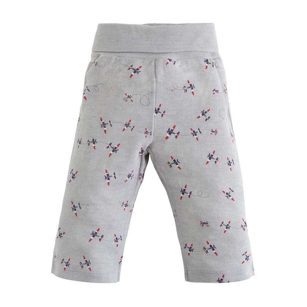 Under the Nile Organic Cotton Baby Boy Rolled Waist Pant Twilight Plane Print (6-9m)