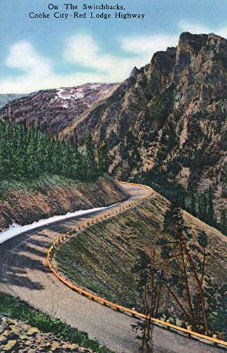 Montana - Scenic Drive along the Beartooth Mountains on the Beartooth Highway (12x18 Art Print, Wall Decor Travel Poster)