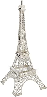 tip top flowers and designs Silver Metal Eiffel Tower Centerpiece or Cake Topper Silver Gold Bronze Black Colors (Silver) (13