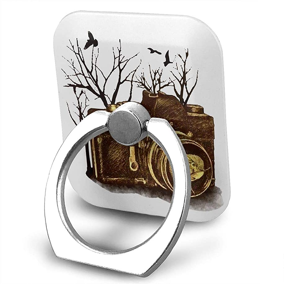 レオナルドダ配当ジュニア写真機 スケッチ 復古 スマホ リング ホールドリング 指輪リング スクエアス 薄型 おしゃれ スタンド機能 落下防止 360度回転 タブレット/スマホ IPhone/Android各種他対応