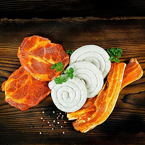 WURSTBARON® Grill Paket Bayern - Set aus Bratwurst. marinierten Schweinenackensteaks und Schweinebauchwammerl