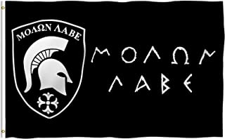 ANLEY® [Fly Breeze] 3x5 Foot Molon Labe Flag - Vivid Color and UV Fade Resistant - Canvas Header and Double Stitched - Gon...