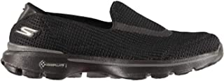 Official Skechers Go Walk 3 Slip On Shoes Womens Black Athleisure Trainers Sneakers