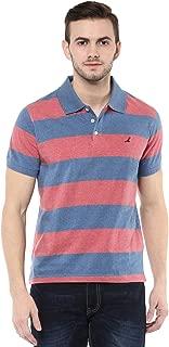 Men's Cotton T-shirt Blue and Brick Red Melange