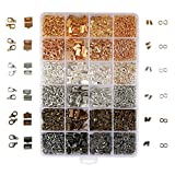 OPount 24 Style 2400 Pcs/Box Jewelry Making Kit 6 Colors with Open Jump Rings, Lobster Clasps, Cord Ends and...