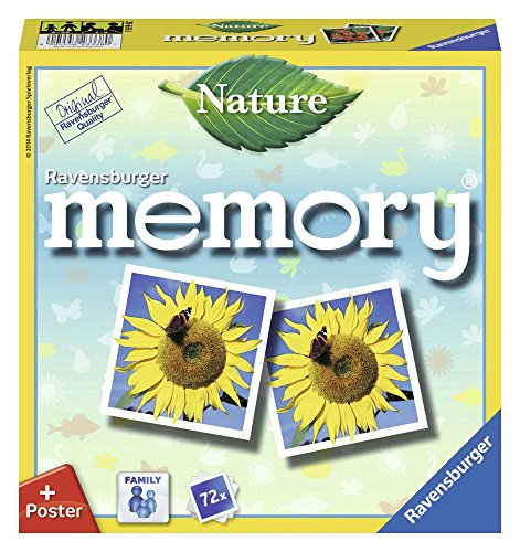Ravensburger 26633 - Nature Memory, der Spieleklassiker für alle Natur-Fans, Merkspiel für 2-8 Spieler ab 4 Jahren