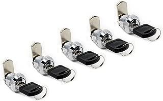 BONA 5pcs Drawer Cam Cylinder Door Mailbox Cabinet Craftsman Tool Box Cabinet Hardware Locks (Keyed Alike 16mm)