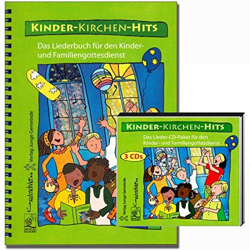 Kinder-Kirchen-Hits Set - Liederbuch mit 3 CDs für den Kinder- und Familiengottesdienst - 80 religiöse Kinderlieder - Verlag: Junge Gemeinde 598 9783779705987