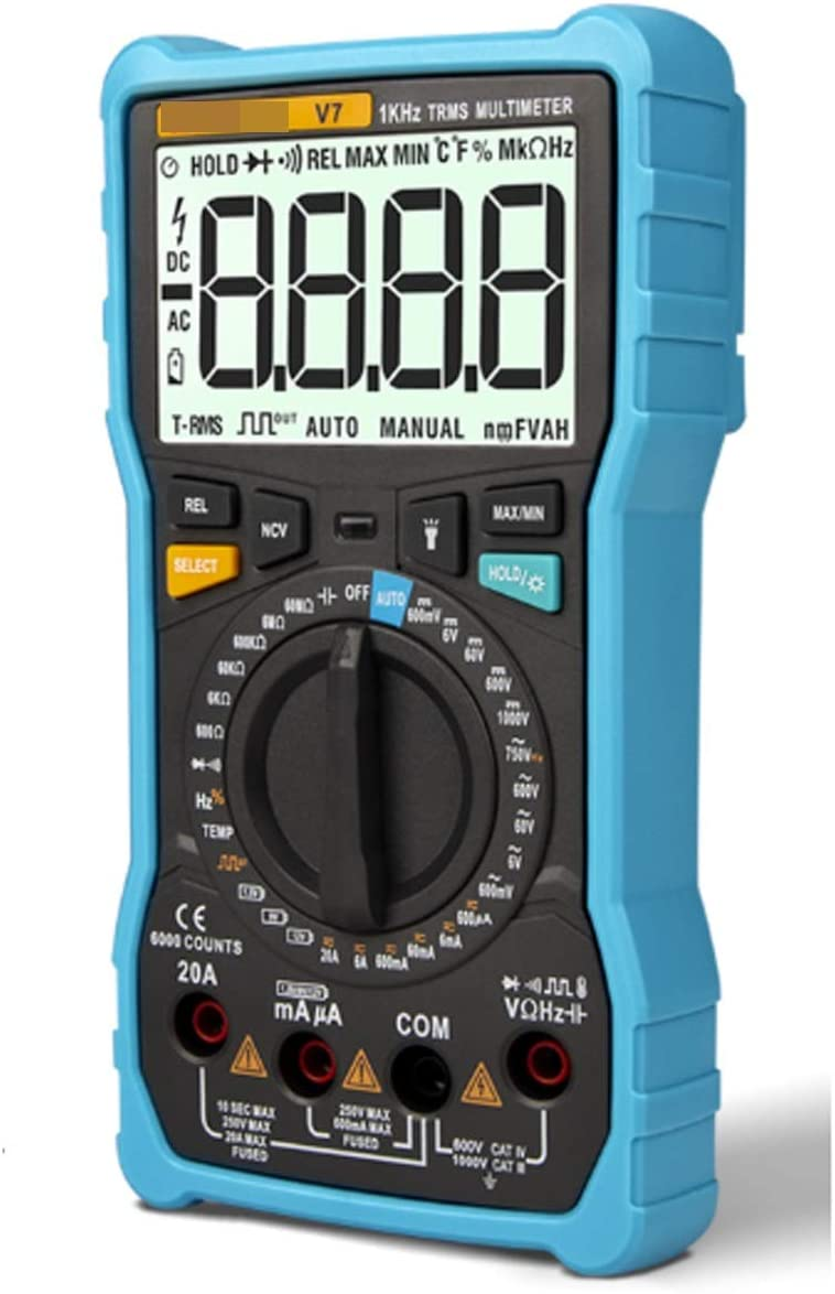 Now free shipping Translated Precision Measurement V7 Digital Multimeter 6000 Counts Capacito