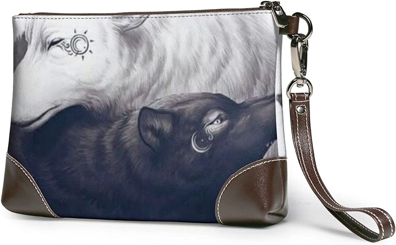 Wallet Cartoon Dinosaur Printed Ladies Wristband Handbag Leather Clutch 8 X 5.5 X 1.5 Inches