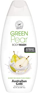 Australian Gold Body Wash, Gentle & Moisturizing with Nutrient Rich Kakadu Plum & Vitamin E, Green Pear, 16.5 Ounce