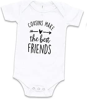 Cousins Make The Best Friends Newborn Baby Bodysuit Aunt Pregnancy Announcement Gift Cousin Crew One Piece White