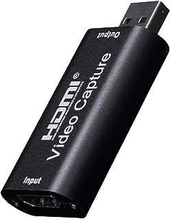 Y&H HDMIキャプチャカード HD 1080P 録画 配信用、HDMI キャプチャー、ビデオキャプチャ DSLR ビデオカメラ ミラーレス Xbox 360 One PS4 Wii U Switch 対応 HDVC2
