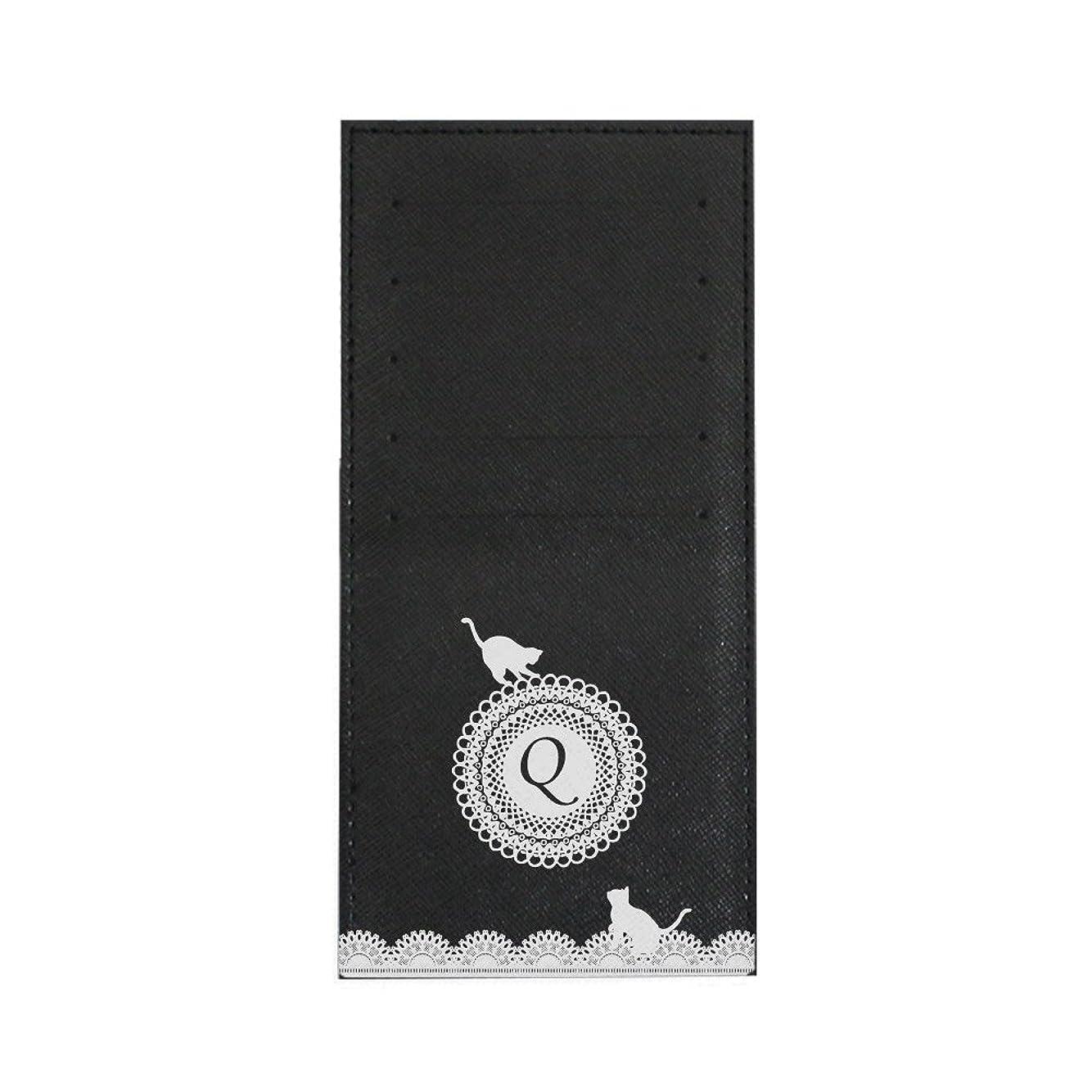 いじめっ子解決エキスパートインナーカードケース 長財布用カードケース 10枚収納可能 カード入れ 収納 プレゼント ギフト 3021レースネーム ( Q ) ブラック mirai