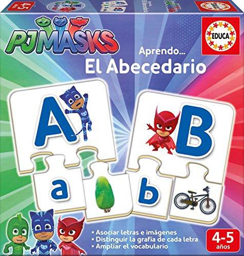 PJ Masks Juego El abecedario Educa Borrás 17251