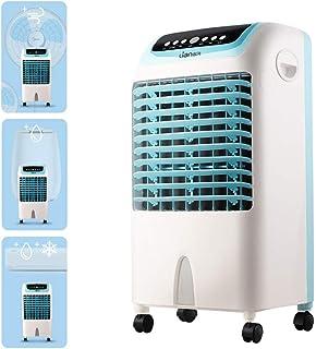 Litet fönster vattenkylare personlig luftkonditionering tyst, bärbar avdunstningsluftfläkt med fjärrkontroll, 3 hastighete...