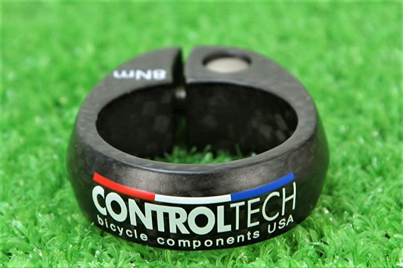 習熟度似ているバンUSA コントロールテック【CONTROLTECH】 超軽量20g カーボン シートクランプ CONTROLTECH COMP SC Φ34.9mm チタンボルト チタンナット