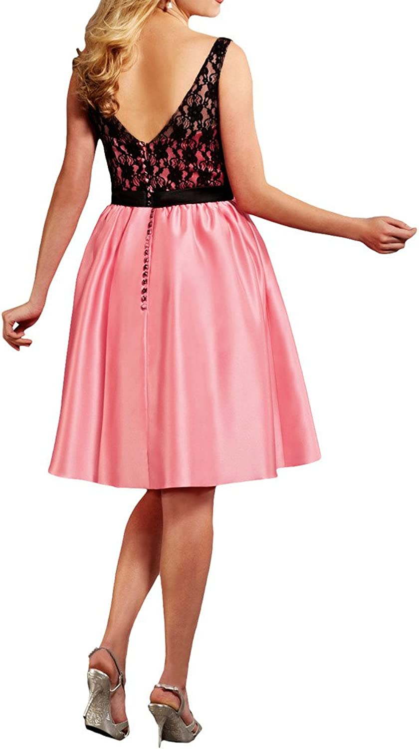 La Mariee Girl's Beautiful Short Mini Homecoming Cocktail Dresses with Bowknot