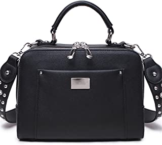 FTSUCQ Womens Retro Shoulder Handbags Casual Totes Messenger Bag Hobo Satchels + 3 PCS Floral Handkies