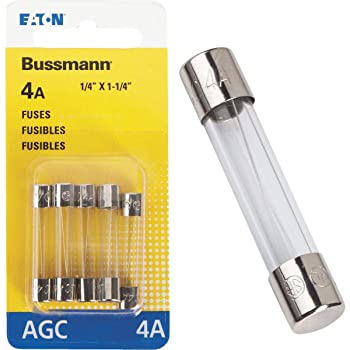 QTY 10 BUSSMANN AGC-4A FAST ACTING 4-AMP 6MM X 30MM 1//4/'/' X 1 1//4/'/' FUSE