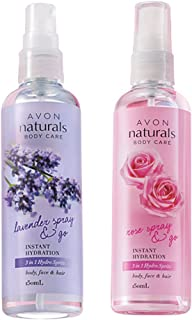 Avon Naturals 3-in-1 Rose and Lavender Spray (set of 2 of 150ml each)
