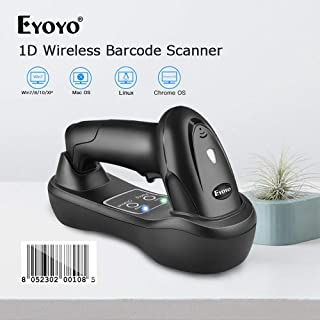 ZINNI - ماسحات ضوئية - Eyoyo EY-6900D 1D محمول قارئ باركود لاسلكي قارئ USB مهد شحن قاعدة شريط كود مسح ضوئي محمول A1