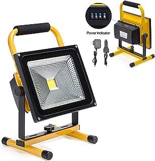 4f6c0999e5d 30W LED Work Light Rechargeable Portable Flood Light Battery Powered Flood  Light for Outdoor Lighting